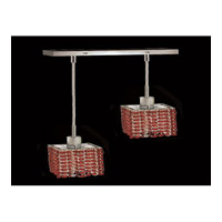 Elegant Lighting Mini 2 Light Pendant in Chrome with Royal Cut Bordeaux Crystal 1282D-O-S-BO/RC
