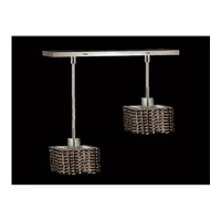 Elegant Lighting Mini 2 Light Pendant in Chrome with Royal Cut Jet Black Crystal 1282D-O-S-JT/RC