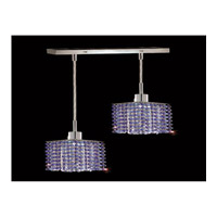Elegant Lighting Mini 2 Light Pendant in Chrome with Royal Cut Sapphire Crystal 1282D-O-S-SA/RC