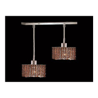 Elegant Lighting Mini 2 Light Pendant in Chrome with Royal Cut Topaz Crystal 1282D-O-S-TO/RC