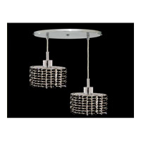 Elegant Lighting Mini 2 Light Pendant in Chrome with Royal Cut Jet Black Crystal 1282D-R-E-JT/RC
