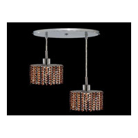 Elegant Lighting Mini 2 Light Pendant in Chrome with Royal Cut Topaz Crystal 1282D-R-E-TO/RC