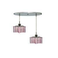 Elegant Lighting Mini 2 Light Pendant in Chrome with Royal Cut Rosaline Crystal 1282D-R-P-RO/RC alternative photo thumbnail