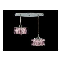 Elegant Lighting Mini 2 Light Pendant in Chrome with Royal Cut Rosaline Crystal 1282D-R-P-RO/RC photo thumbnail