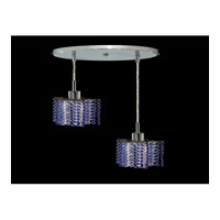 Elegant Lighting Mini 2 Light Pendant in Chrome with Royal Cut Sapphire Crystal 1282D-R-P-SA/RC