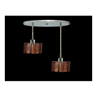 Elegant Lighting Mini 2 Light Pendant in Chrome with Royal Cut Topaz Crystal 1282D-R-P-TO/RC