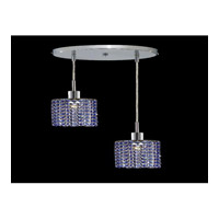 Elegant Lighting Mini 2 Light Pendant in Chrome with Royal Cut Sapphire Crystal 1282D-R-R-SA/RC