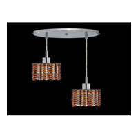 Elegant Lighting Mini 2 Light Pendant in Chrome with Royal Cut Topaz Crystal 1282D-R-R-TO/RC