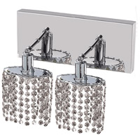 Elegant Lighting Mini 2 Light Wall Sconce in Chrome with Elegant Cut Clear Crystal 1282W-O-E-CL/EC