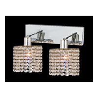 Mini 2 Light 5 inch Chrome Wall Sconce Wall Light in Clear, Royal Cut, Rectangle, Round