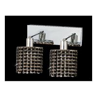 Elegant Lighting Mini 2 Light Wall Sconce in Chrome with Royal Cut Jet Black Crystal 1282W-O-R-JT/RC