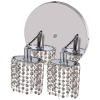 Elegant Lighting Mini 2 Light Wall Sconce in Chrome with Elegant Cut Clear Crystal 1282W-R-E-CL/EC