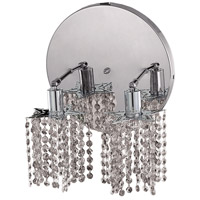 Mini 2 Light 9 inch Chrome Wall Sconce Wall Light in Clear, Royal Cut, Round, Star