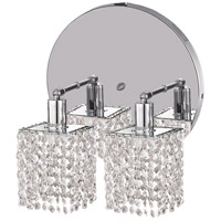 Elegant Lighting Mini 2 Light Wall Sconce in Chrome with Elegant Cut Clear Crystal 1282W-R-S-CL/EC