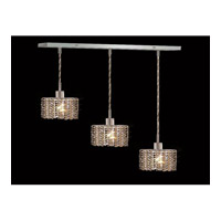 Elegant Lighting Mini 3 Light Pendant in Chrome with Royal Cut Golden Teak Crystal 1283D-O-E-GT/RC