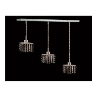 Elegant Lighting Mini 3 Light Pendant in Chrome with Royal Cut Jet Black Crystal 1283D-O-E-JT/RC