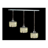 Elegant Lighting Mini 3 Light Pendant in Chrome with Royal Cut Light Peridot Crystal 1283D-O-E-LP/RC