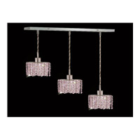 Elegant Lighting Mini 3 Light Pendant in Chrome with Swarovski Strass Rosaline Crystal 1283D-O-E-RO/SS