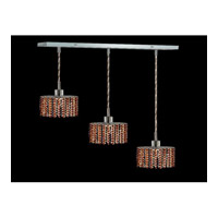 Elegant Lighting Mini 3 Light Pendant in Chrome with Royal Cut Topaz Crystal 1283D-O-E-TO/RC
