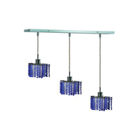 Elegant Lighting Mini 3 Light Pendant in Chrome with Royal Cut Sapphire Crystal 1283D-O-P-SA/RC alternative photo thumbnail