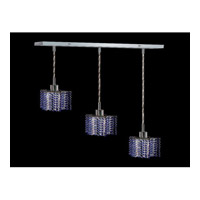 Elegant Lighting Mini 3 Light Pendant in Chrome with Royal Cut Sapphire Crystal 1283D-O-P-SA/RC photo thumbnail
