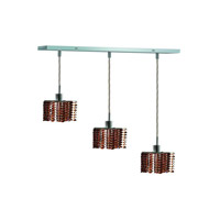 Elegant Lighting 1283D-O-P-TO/RC Mini 3 Light 15 inch Chrome Pendant Ceiling Light in Topaz, Royal Cut, Rectangle, Star alternative photo thumbnail