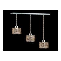 Elegant Lighting Mini 3 Light Pendant in Chrome with Royal Cut Golden Teak Crystal 1283D-O-R-GT/RC
