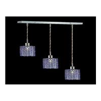 Elegant Lighting Mini 3 Light Pendant in Chrome with Royal Cut Sapphire Crystal 1283D-O-R-SA/RC