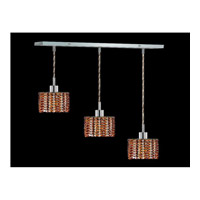 Elegant Lighting Mini 3 Light Pendant in Chrome with Swarovski Strass Topaz Crystal 1283D-O-R-TO/SS