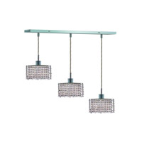 Elegant Lighting Mini 3 Light Pendant in Chrome with Royal Cut Clear Crystal 1283D-O-S-CL/RC alternative photo thumbnail