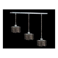 Elegant Lighting Mini 3 Light Pendant in Chrome with Royal Cut Jet Black Crystal 1283D-O-S-JT/RC