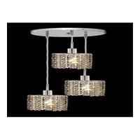 Elegant Lighting Mini 3 Light Pendant in Chrome with Royal Cut Golden Teak Crystal 1283D-R-E-GT/RC
