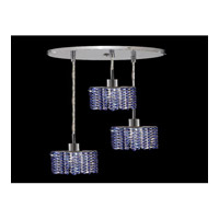 Elegant Lighting Mini 3 Light Pendant in Chrome with Royal Cut Sapphire Crystal 1283D-R-E-SA/RC