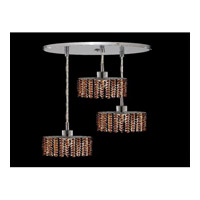 Elegant Lighting Mini 3 Light Pendant in Chrome with Royal Cut Topaz Crystal 1283D-R-E-TO/RC