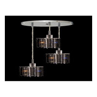 Elegant Lighting Mini 3 Light Pendant in Chrome with Swarovski Strass Jet Black Crystal 1283D-R-P-JT/SS