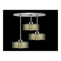 Elegant Lighting Mini 3 Light Pendant in Chrome with Royal Cut Light Peridot Crystal 1283D-R-P-LP/RC