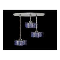 Elegant Lighting Mini 3 Light Pendant in Chrome with Swarovski Strass Sapphire Crystal 1283D-R-P-SA/SS