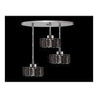 Elegant Lighting Mini 3 Light Pendant in Chrome with Swarovski Strass Jet Black Crystal 1283D-R-R-JT/SS