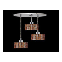 Elegant Lighting Mini 3 Light Pendant in Chrome with Swarovski Strass Topaz Crystal 1283D-R-R-TO/SS