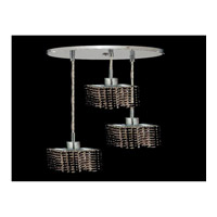 Elegant Lighting Mini 3 Light Pendant in Chrome with Swarovski Strass Jet Black Crystal 1283D-R-S-JT/SS