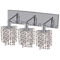 Mini 3 Light 15 inch Chrome Vanity Wall Light in Clear, Royal Cut, Star