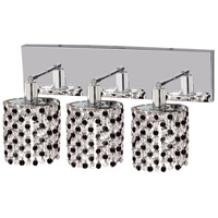 Elegant Lighting Mini 3 Light Vanity in Chrome with Elegant Cut Clear Crystal 1283W-O-R-CL/EC