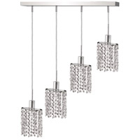 Mini 4 Light 26 inch Chrome Pendant Ceiling Light in Clear, Royal Cut, Rectangle, Ellipse