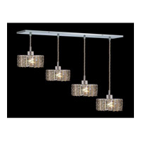 Elegant Lighting Mini 4 Light Pendant in Chrome with Royal Cut Golden Teak Crystal 1284D-O-E-GT/RC photo thumbnail