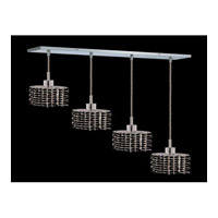 Elegant Lighting Mini 4 Light Pendant in Chrome with Swarovski Strass Jet Black Crystal 1284D-O-E-JT/SS