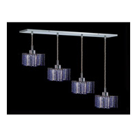 Elegant Lighting Mini 4 Light Pendant in Chrome with Royal Cut Sapphire Crystal 1284D-O-P-SA/RC