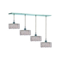 Elegant Lighting Mini 4 Light Pendant in Chrome with Royal Cut Clear Crystal 1284D-O-S-CL/RC