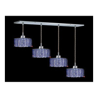 Elegant Lighting Mini 4 Light Pendant in Chrome with Royal Cut Sapphire Crystal 1284D-O-S-SA/RC