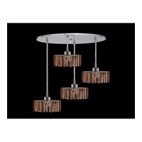 Elegant Lighting Mini 4 Light Pendant in Chrome with Royal Cut Topaz Crystal 1284D-R-E-TO/RC