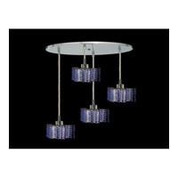 Elegant Lighting Mini 4 Light Pendant in Chrome with Royal Cut Sapphire Crystal 1284D-R-P-SA/RC